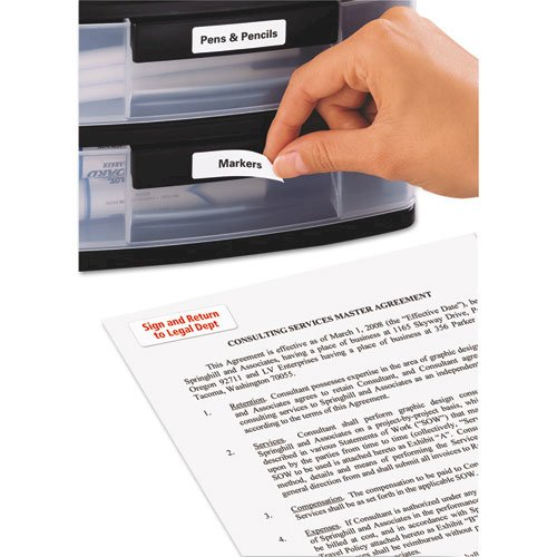 Removable Multi-Use Labels, Inkjet/Laser Printers, 0.5 x 1.75, White, 80/Sheet, 25 Sheets/Pack. Picture 3