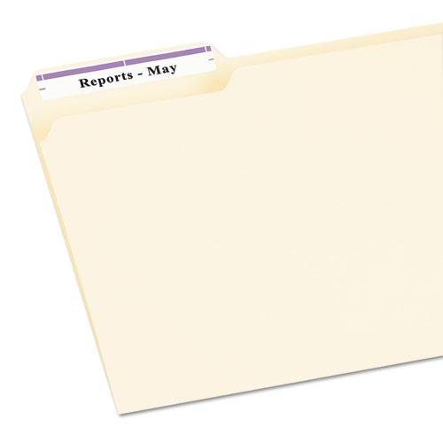 Permanent TrueBlock File Folder Labels with Sure Feed Technology, 0.66 x 3.44, White, 30/Sheet, 25 Sheets/Pack. Picture 2