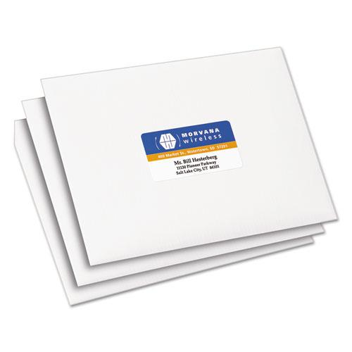 Vibrant Laser Color-Print Labels w/ Sure Feed, 1 1/4 x 2 3/8, White, 450/Pack. Picture 3