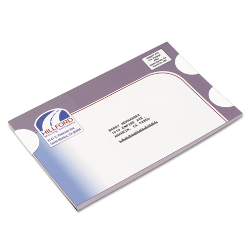 """Printable Mailing Seals, 1.5"""" dia., White, 6/Sheet, 40 Sheets/Pack. Picture 2"""
