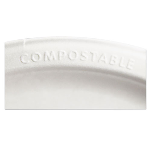 """Renewable and Compostable Sugarcane Plates Convenience Pack, 6"""", 50/Packs. Picture 5"""