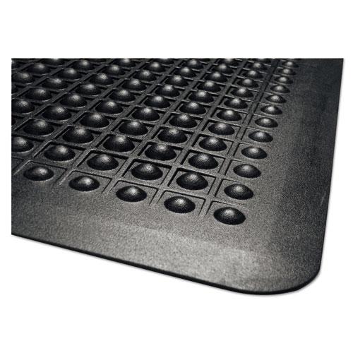 Flex Step Rubber Anti-Fatigue Mat, Polypropylene, 36 x 60, Black. Picture 4