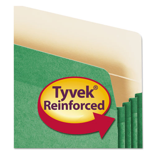 """Colored File Pockets, 3.5"""" Expansion, Letter Size, Green. Picture 2"""