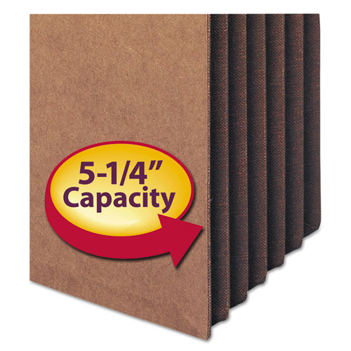 """Redrope TUFF Pocket Drop-Front File Pockets w/ Fully Lined Gussets, 5.25"""" Expansion, Legal Size, Redrope, 10/Box. Picture 3"""