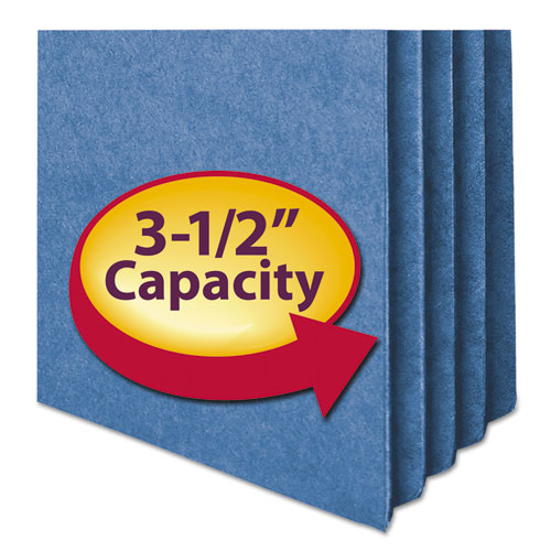 """Colored File Pockets, 3.5"""" Expansion, Legal Size, Blue. Picture 3"""