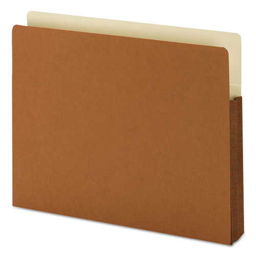 """Redrope Drop-Front File Pockets w/ Fully Lined Gussets, 1.75"""" Expansion, Letter Size, Redrope, 25/Box"""
