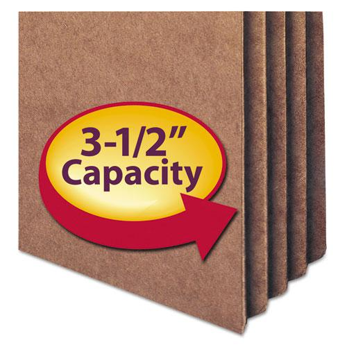 """Redrope Drop Front File Pockets, 3.5"""" Expansion, Letter Size, Redrope, 50/Box. Picture 2"""