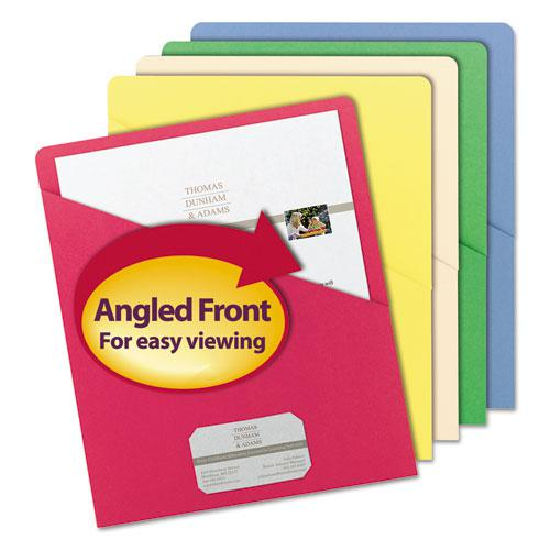 Organized Up Slash Jackets, Letter Size, Assorted Colors, 25/Pack. Picture 1