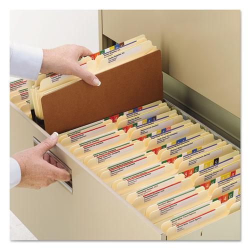 """Redrope Drop Front File Pockets, 5.25"""" Expansion, Legal Size, Redrope, 10/Box. Picture 2"""
