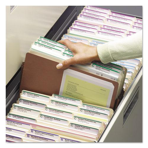 """Redrope Drop Front File Pockets, 5.25"""" Expansion, Legal Size, Redrope, 50/Box. Picture 2"""