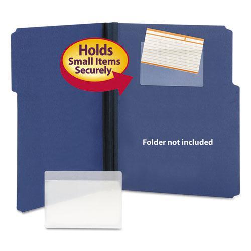 Self Adhesive Poly Pockets Top Load 5 5 16 X 3 5 8