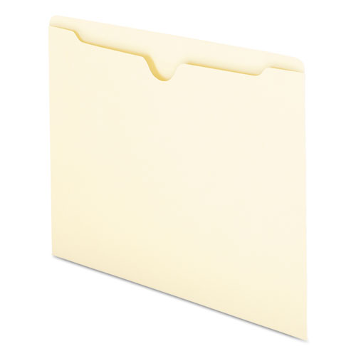 Manila File Jackets, 1-Ply Straight Tab, Letter Size, Manila, 100/Box. Picture 4