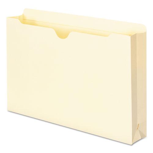 Manila File Jackets, 2-Ply Straight Tab, Legal Size, Manila, 50/Box. Picture 5