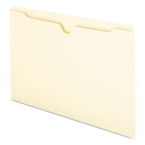 Manila File Jackets, 1-Ply Straight Tab, Legal Size, Manila, 100/Box. Picture 5