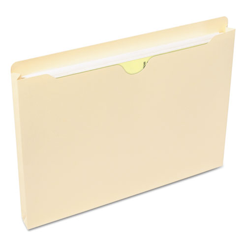 Manila File Jackets, 1-Ply Straight Tab, Letter Size, Manila, 50/Box. Picture 4