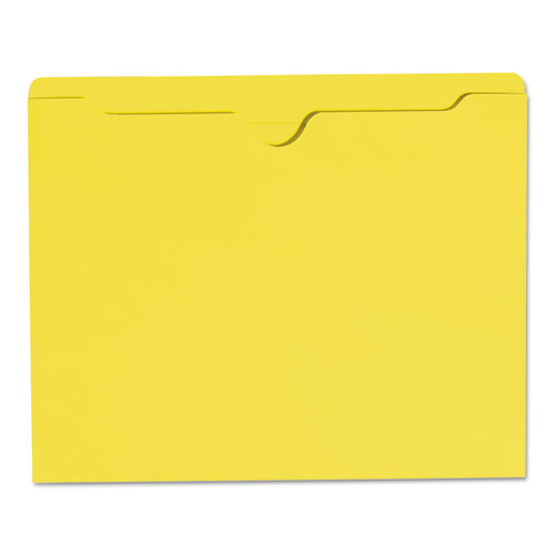 Colored File Jackets with Reinforced Double-Ply Tab, Straight Tab, Letter Size, Yellow, 100/Box. Picture 7