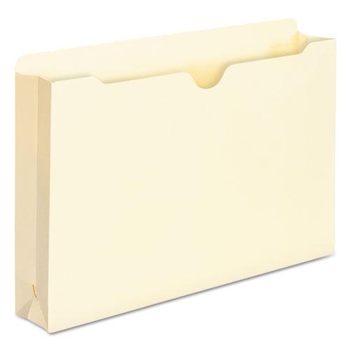 Manila File Jackets, 1-Ply Straight Tab, Legal Size, Manila, 50/Box. Picture 6