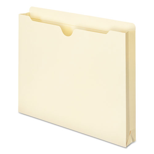 Manila File Jackets, 2-Ply Straight Tab, Letter Size, Manila, 50/Box. Picture 5