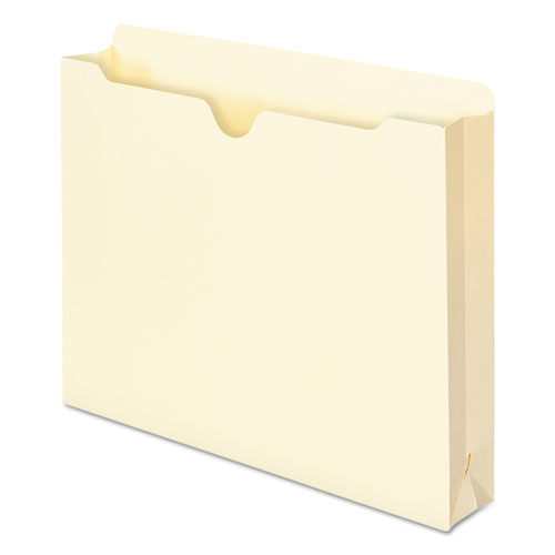 Manila File Jackets, 1-Ply Straight Tab, Letter Size, Manila, 50/Box. Picture 5
