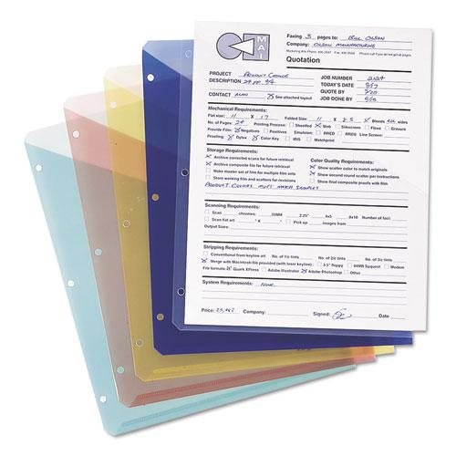 Organized Up Poly Slash Jackets, 2-Sections, Letter Size, Clear, 5/Pack. Picture 3
