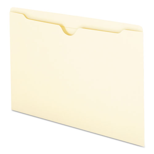Manila File Jackets, 2-Ply Straight Tab, Legal Size, Manila, 100/Box. Picture 5
