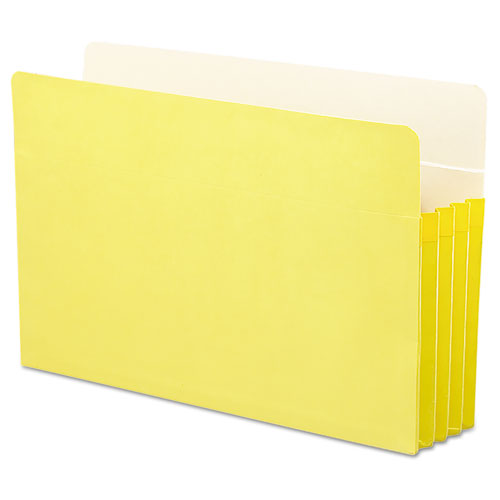 """Colored File Pockets, 3.5"""" Expansion, Legal Size, Yellow. Picture 3"""