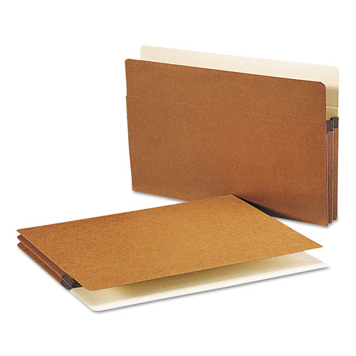 """Redrope Drop Front File Pockets, 1.75"""" Expansion, Legal Size, Redrope, 50/Box. Picture 1"""