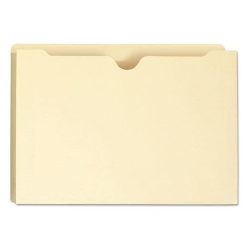 Manila File Jackets, 1-Ply Straight Tab, Legal Size, Manila, 50/Box. Picture 7