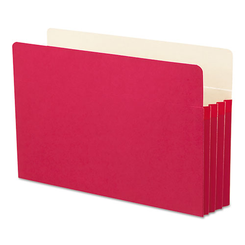 """Colored File Pockets, 3.5"""" Expansion, Legal Size, Red. Picture 3"""