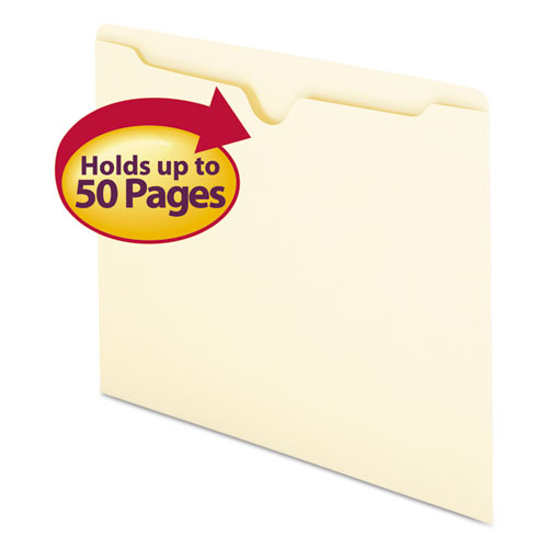 Manila File Jackets, 1-Ply Straight Tab, Letter Size, Manila, 100/Box. Picture 1