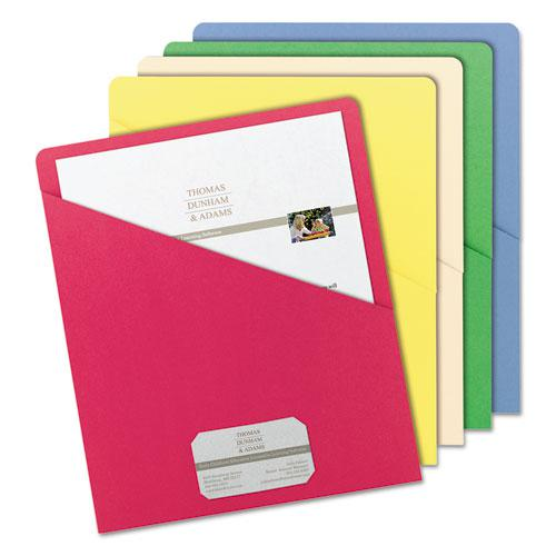Organized Up Slash Jackets, Letter Size, Assorted Colors, 25/Pack. Picture 4