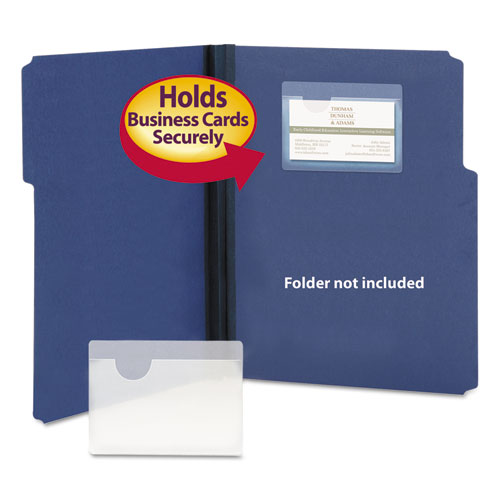 Self Adhesive Poly Pockets Top Load 4 1 16 X 3 Clear