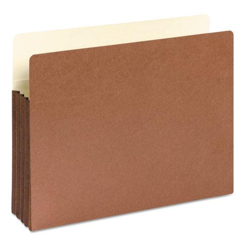 """Redrope Drop-Front File Pockets w/ Fully Lined Gussets, 3.5"""" Expansion, Letter Size, Redrope, 10/Box. Picture 3"""