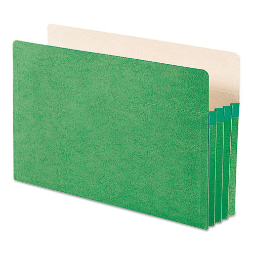 """Colored File Pockets, 3.5"""" Expansion, Legal Size, Green. Picture 3"""