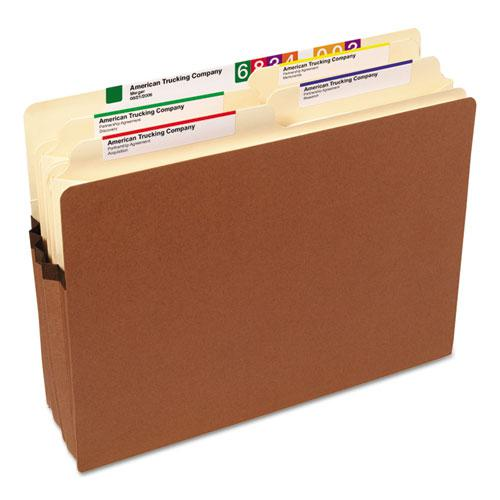 """Redrope Drop Front File Pockets, 3.5"""" Expansion, Letter Size, Redrope, 50/Box. Picture 3"""