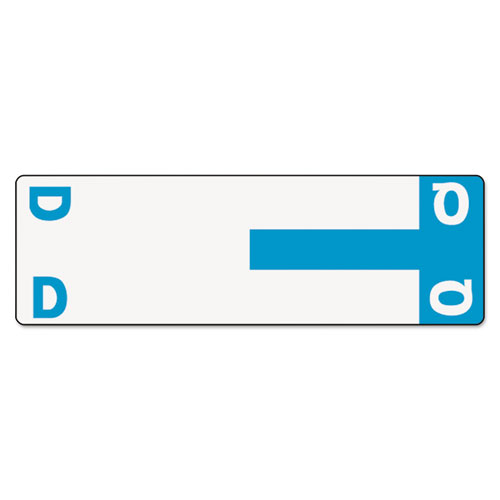 AlphaZ Color-Coded First Letter Combo Alpha Labels, D/Q, 1.16 x 3.63, Light Blue/White, 5/Sheet, 20 Sheets/Pack. Picture 1