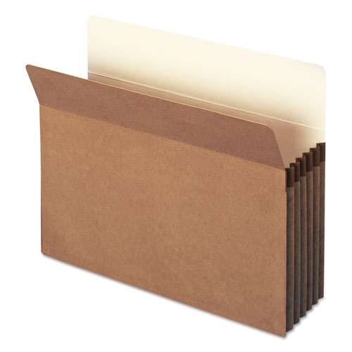 """100% Recycled Top Tab File Pockets, 5.25"""" Expansion, Letter Size, Redrope, 10/Box. Picture 4"""