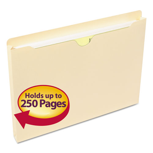 Manila File Jackets, 1-Ply Straight Tab, Letter Size, Manila, 50/Box. Picture 1