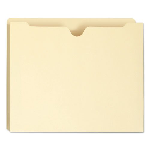 Manila File Jackets, 1-Ply Straight Tab, Letter Size, Manila, 50/Box. Picture 6