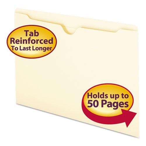 Manila File Jackets, 2-Ply Straight Tab, Legal Size, Manila, 100/Box. Picture 1