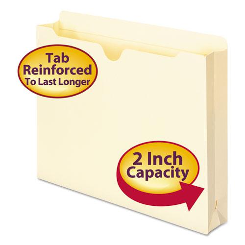 Manila File Jackets, 2-Ply Straight Tab, Letter Size, Manila, 50/Box. Picture 1