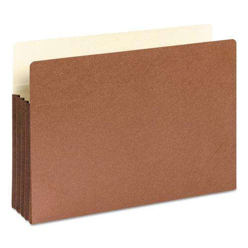 """Redrope Drop-Front File Pockets w/ Fully Lined Gussets, 3.5"""" Expansion, Legal Size, Redrope, 10/Box. Picture 2"""