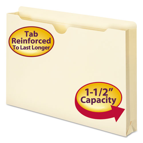 Manila File Jackets, 2-Ply Straight Tab, Legal Size, Manila, 50/Box. Picture 1