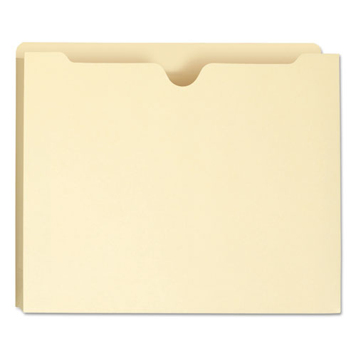100% Recycled Top Tab File Jackets, Straight Tab, Letter Size, Manila, 50/Box. Picture 6