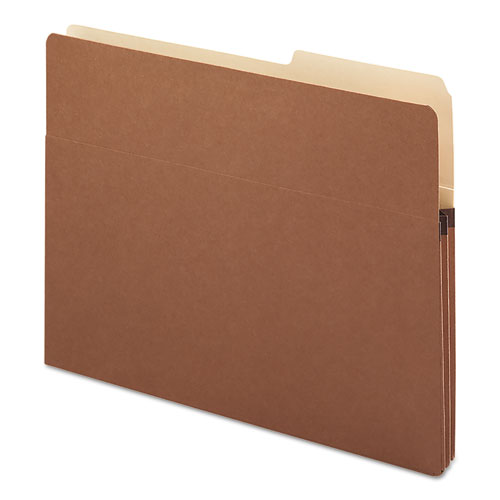"""Redrope Drop Front File Pockets, 1.75"""" Expansion, Letter Size, Redrope, 25/Box"""