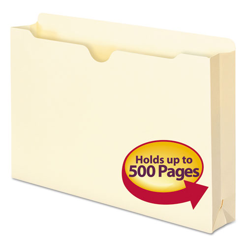 Manila File Jackets, 1-Ply Straight Tab, Legal Size, Manila, 50/Box. Picture 1