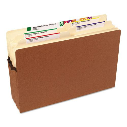 """Redrope Drop Front File Pockets, 3.5"""" Expansion, Legal Size, Redrope, 25/Box. Picture 3"""