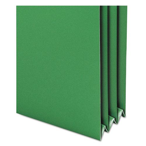 """Poly Drop Front File Pockets, 3.5"""" Expansion, 4 Sections, Letter Size, Assorted, 4/Box. Picture 4"""