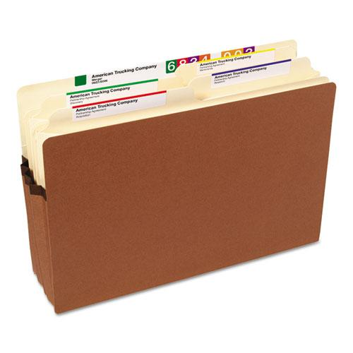 """Redrope Drop Front File Pockets, 3.5"""" Expansion, Legal Size, Redrope, 50/Box. Picture 2"""