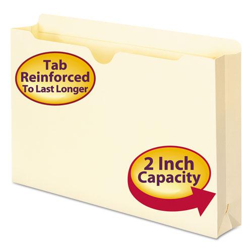 Manila File Jackets, 2-Ply Straight Tab, Legal Size, Manila, 50/Box. Picture 1